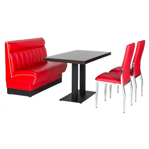 American banquette rouge