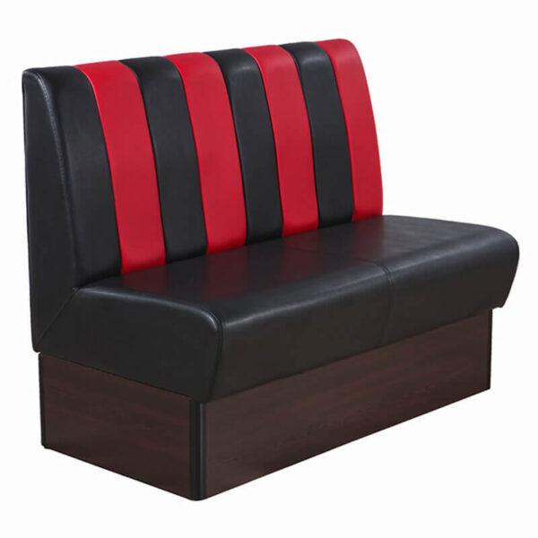 Horeca Eetbank – Safran – Zwart Rood