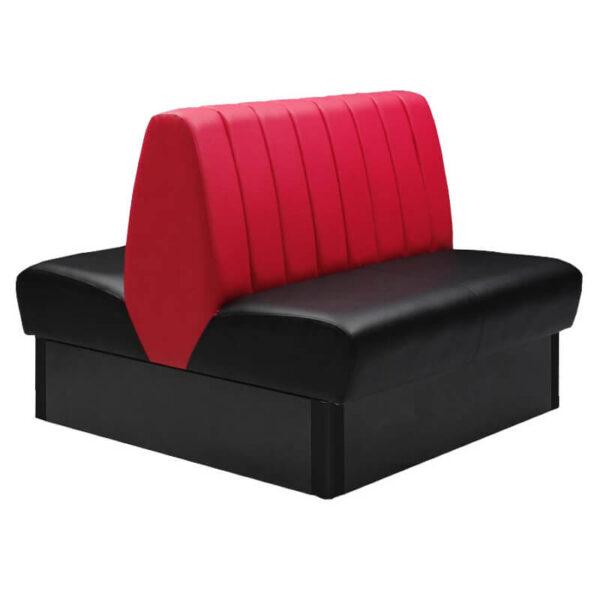 Horeca Eetbank - Safran - Dubbele Zwart Rood