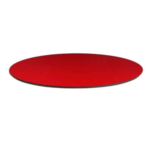 Horeca Tafelblad Rond - Compact Rood - 69 - 12 Mm Dik