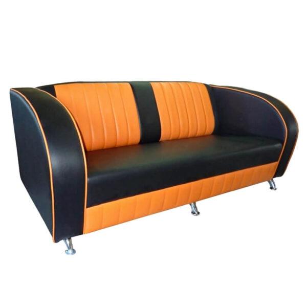 Horeca Eetbank - Tex - Zwart Oranje