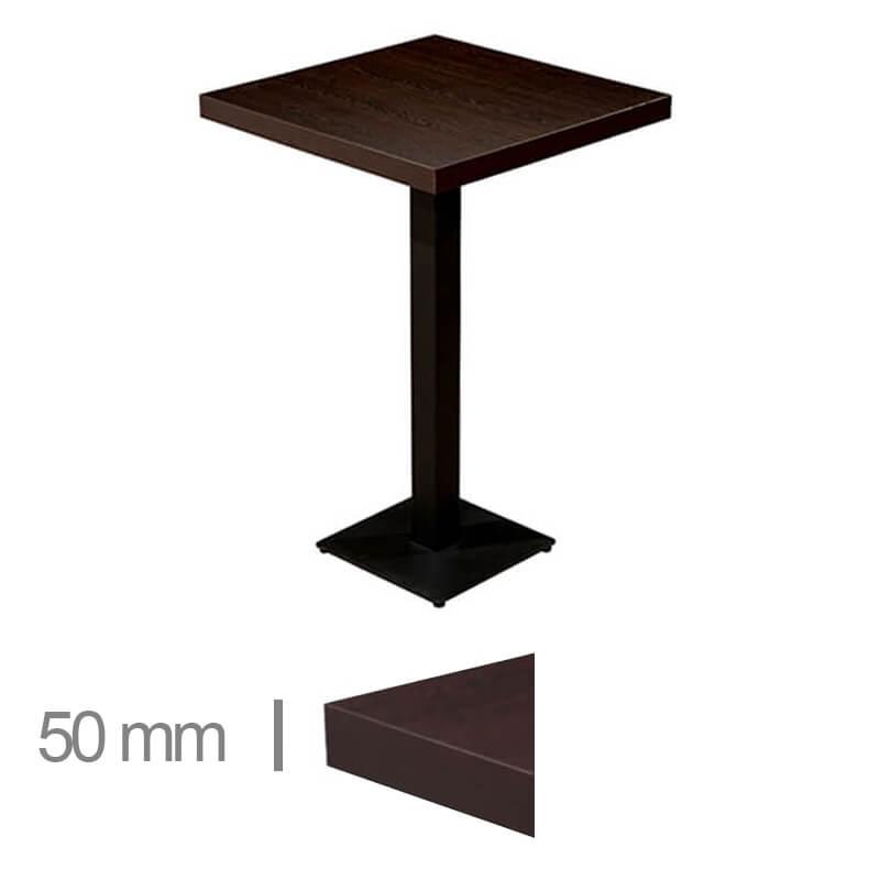 Horeca-Statafel-Dublin-Wenge-70x70-Hoogte-113-Cm-50mm
