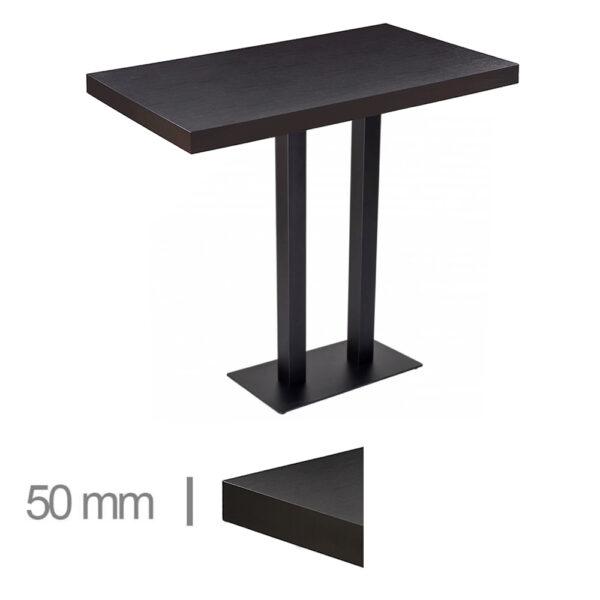 Horeca-Statafel-Dublin-Zwart-80x120-Hoogte-113-Cm-50mm