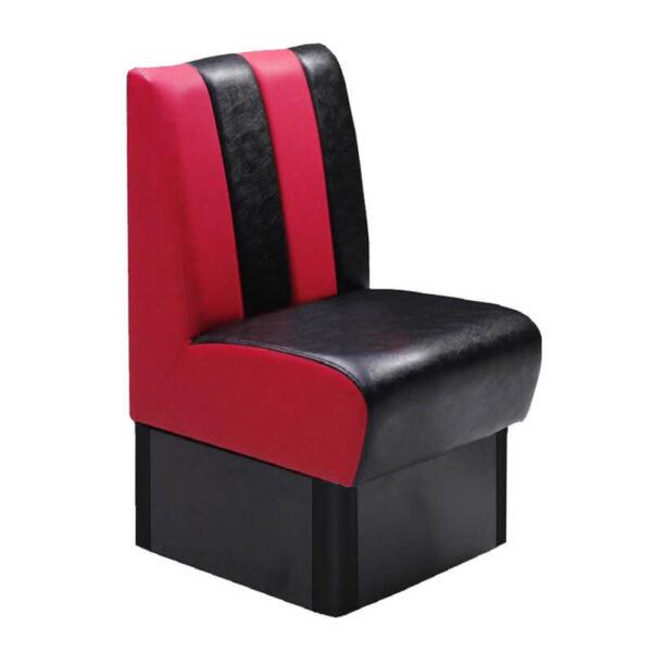Horeca Eetbank - Safran - Zwart Rood