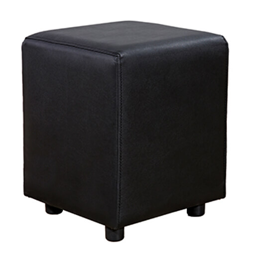 Horeca Poef - Vierkant Zwart