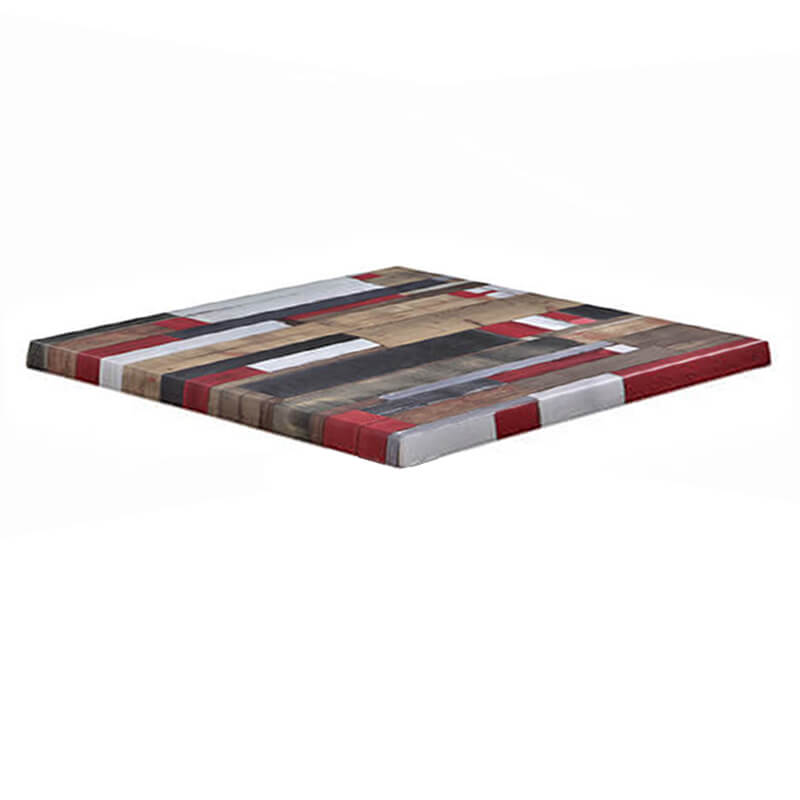 Horeca Tafelblad - Werzalit Reddenwood - 70x70 - 3 Cm Dik