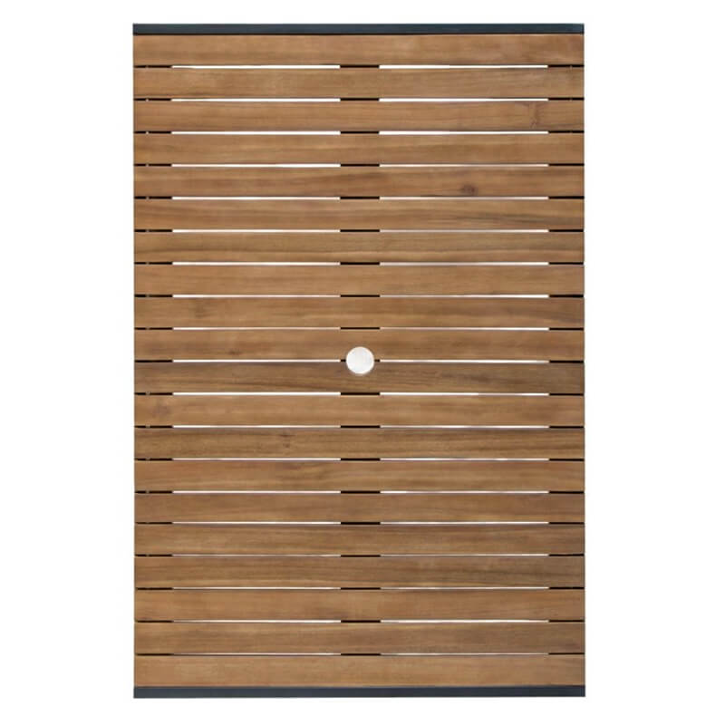 Horeca Tafel Rechthoekig - Staal Acaciahout 80x120 Cm - D