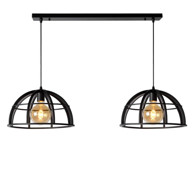 Dikra Hanglamp Zwart Duo
