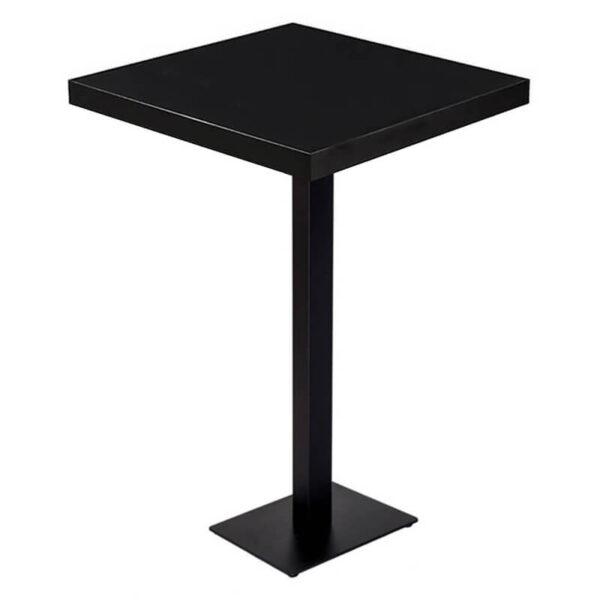 Horeca Statafel – Dublin Zwart – 60×60 – Hoogte 113 Cm