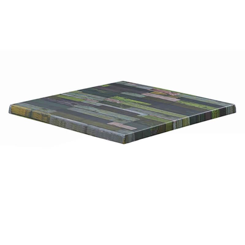 Horeca Tafelblad - Werzalit Blanchas Groen - 70x70 - 3 Cm Dik