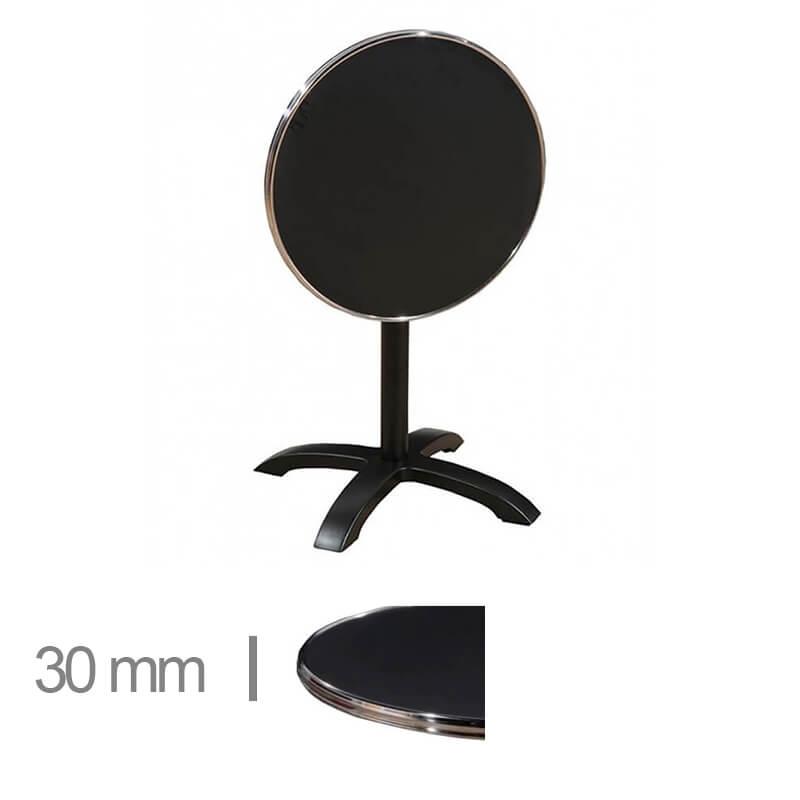 Horeca-Terras-Tafel-Rond-Opklapbaar-Werzalit-Zwart-60-Cm-Z-30mm