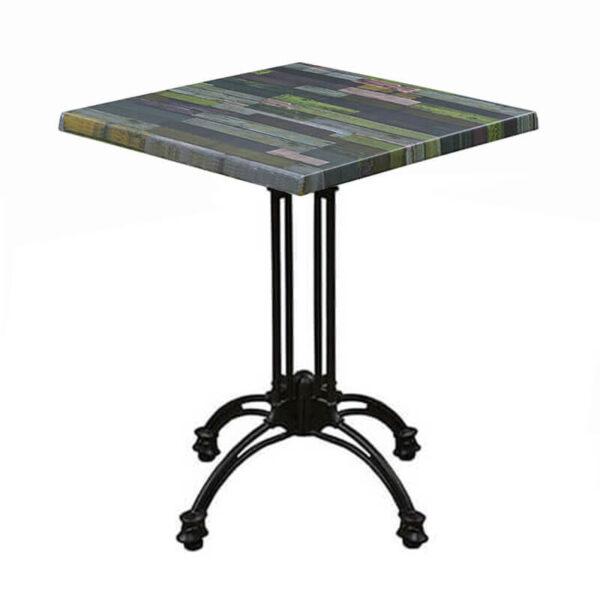 Horeca Terras Tafel - Werzalit Blanchas Groen - 70x70 Cm-
