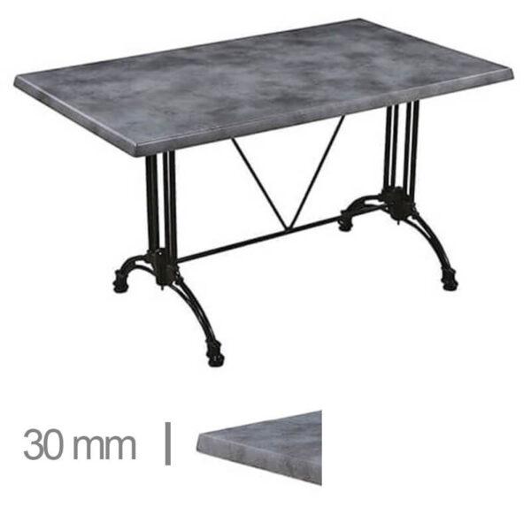 Horeca-Terrasse-Tisch-Werzalit-Beton-60x60-Cm-30mm