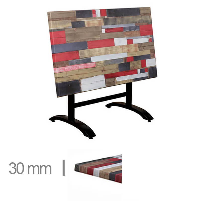 Horeca-Terras-Tafel-Met-Klaponderstel-Werzalit-Reddenwood-70x120-V-30mm