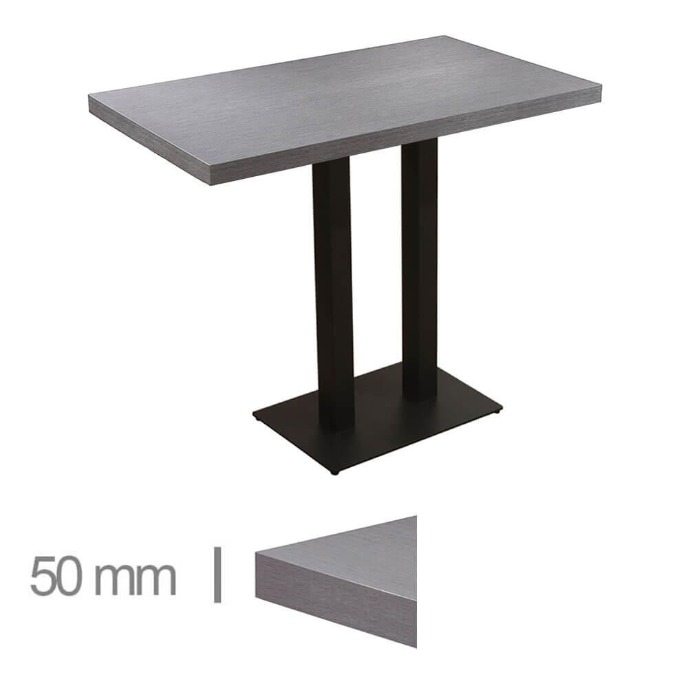 Horeca-Statafel-Dublin Grijs-70x120-Hoogte-108-Cm-50mm