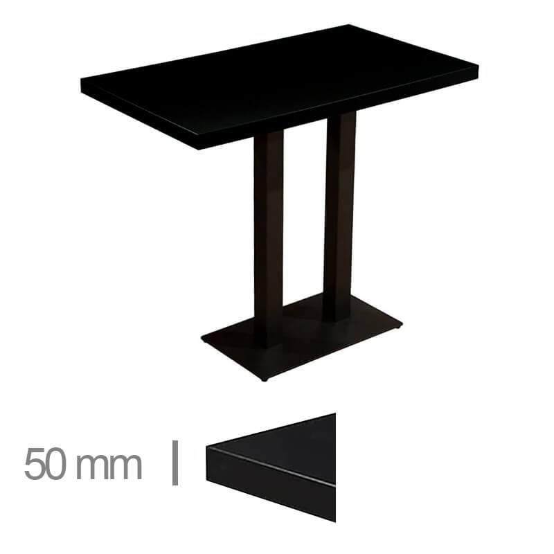 Horeca-Statafel-Dublin-Zwart-70x120-Hoogte-113-Cm-50mm