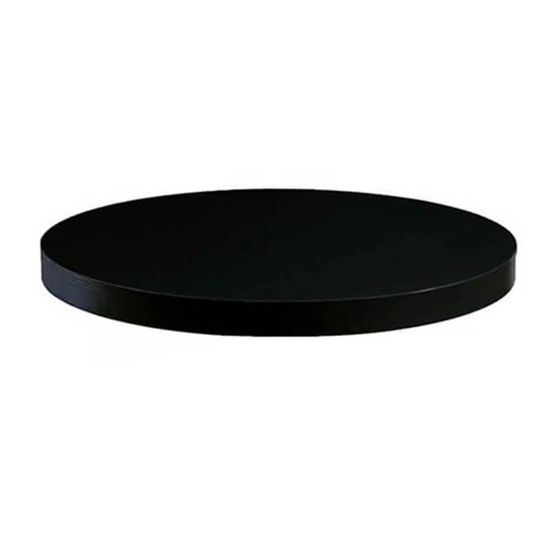 Horeca Tafelblad Rond - Dublin Zwart - 60 - 5 Cm Dik