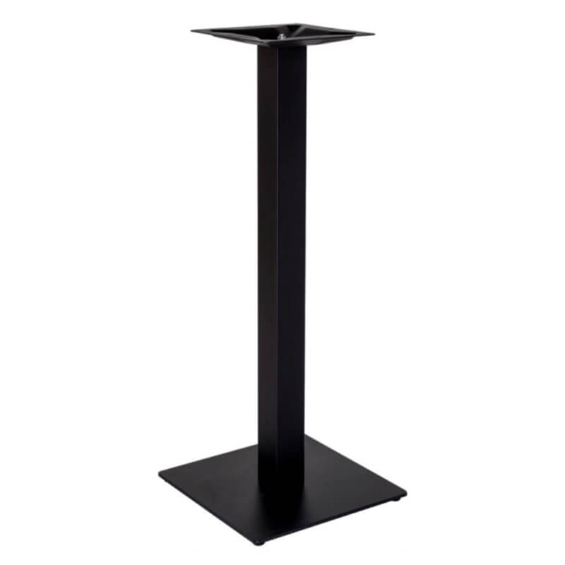 Horeca Statafelonderstel Zwart Plat 40x40 – Hoogte 108 Cm