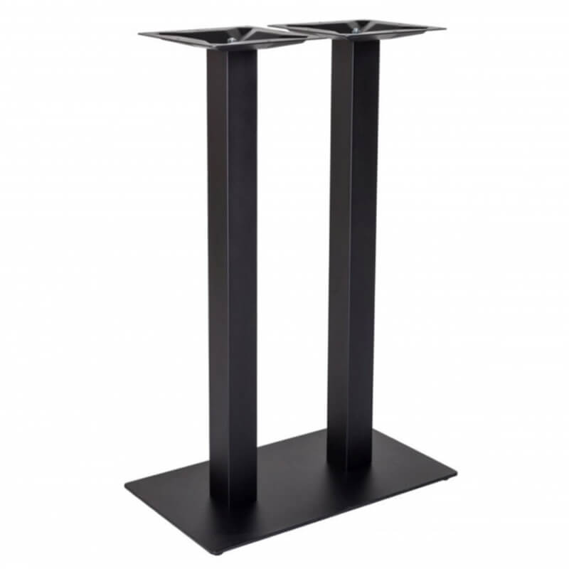 Horeca Statafelonderstel - Zwart Dubbele - Hoogte 108 Cm