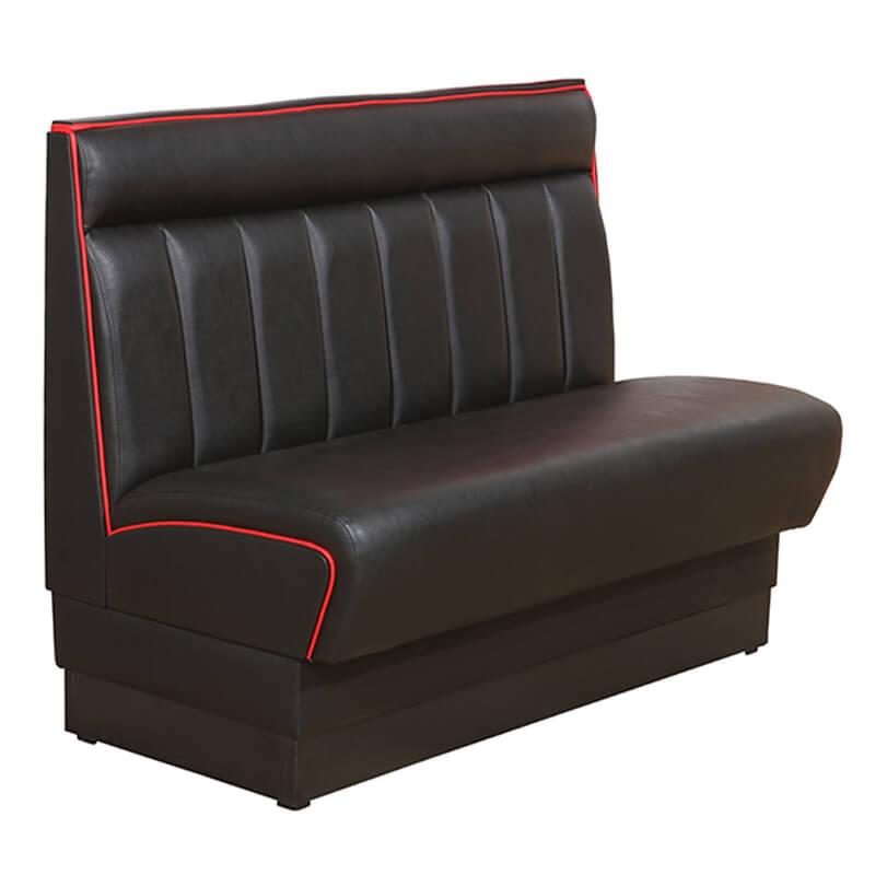 Horeca Eetbank - American - Zwart Rood - Z