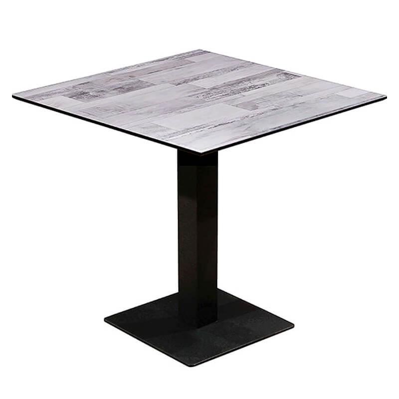 Horeca Tafel - Compact Wit Blok - 59x59 Cm Met Onderstel