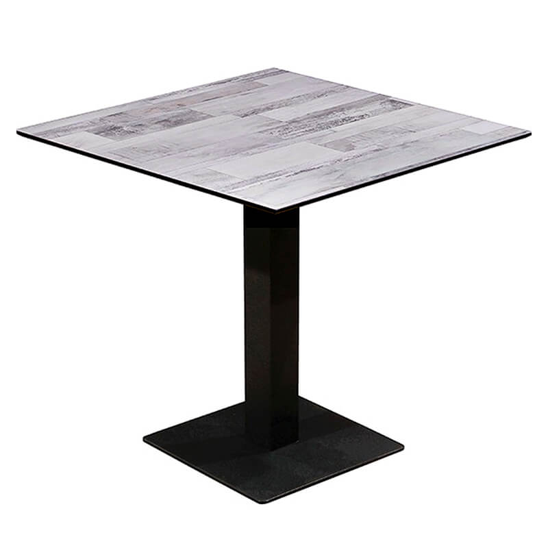 Horeca Tafel - Compact Wit Blok - 69x69 Cm Met Onderstel