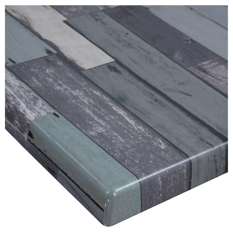 Horeca Tafelblad - Werzalit Blanchas Blauw - 60x60 - 3 Cm Dik - D