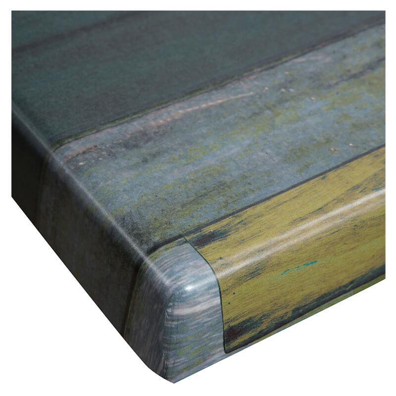Horeca Tafelblad - Werzalit Blanchas Groen - 70x70 - 3 Cm Dik - D1