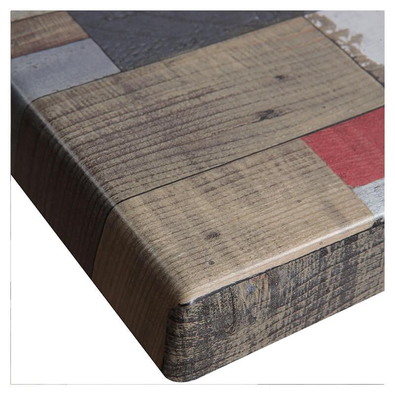 Horeca Tafelblad - Werzalit Reddenwood - 60x60 - 3 Cm Dik - D1