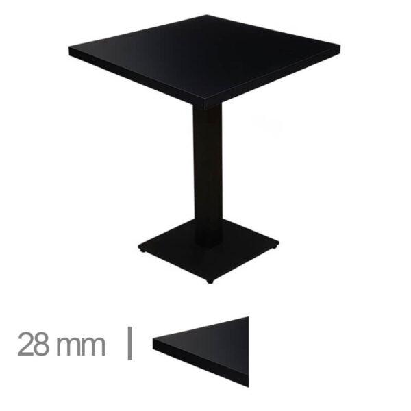 Horeca-Tafel-Madrid-Zwart-60x60-Cm-Met-Onderstel-28mm