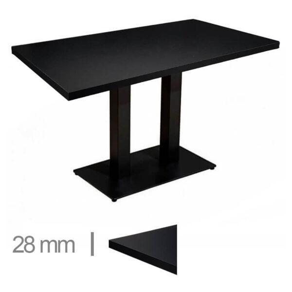 Horeca-Tafel-Madrid-Zwart-70×120-Cm-Met-Onderstel-28mm
