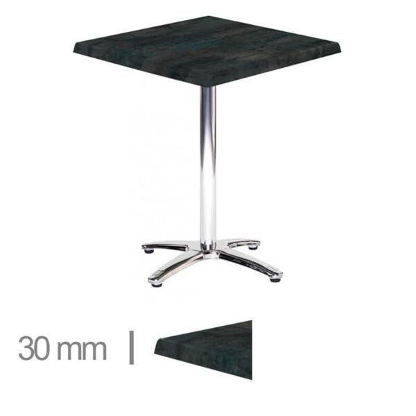 Horeca-Tafel-Werzalit-Groen-Staal-60×60-3-Cm-Dik-1-30mm
