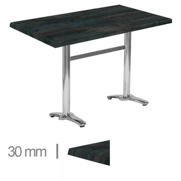 Horeca-Terras-Tafel-Werzalit-Green-Steel-70×120Cm